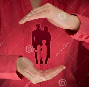 family-life-insurance-policy-services-protecting-supporting-families-concepts-woman-protective-36334718